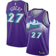 Wholesale Cheap Jazz #27 Rudy Gobert Purple Basketball Swingman Hardwood Classics Jersey
