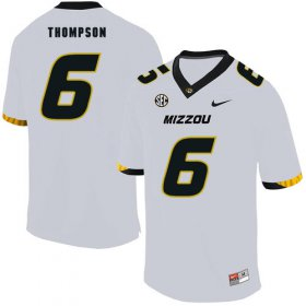 Wholesale Cheap Missouri Tigers 6 Khmari Thompson White Nike College Football Jersey