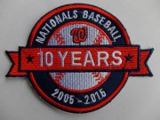 Wholesale Cheap Stitched 2015 Washington Nationals MLB 10th Anniversary Years Jersey Sleeve Patch