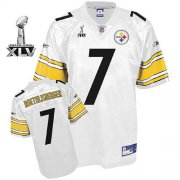 Wholesale Cheap Steelers #7 Ben Roethlisberger White Super Bowl XLV Stitched NFL Jersey