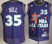 Wholesale Cheap NBA 1995 All-Star #35 Grant Hill Purple Swingman Throwback Jersey