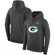 Wholesale Cheap NFL Men's Green Bay Packers Nike Anthracite Crucial Catch Performance Pullover Hoodie