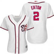 Wholesale Cheap Nationals #2 Adam Eaton White Home Women's Stitched MLB Jersey