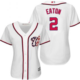 Wholesale Cheap Nationals #2 Adam Eaton White Home Women\'s Stitched MLB Jersey