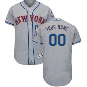 Wholesale Cheap New York Mets Majestic Road Flex Base Authentic Collection Custom Jersey Gray