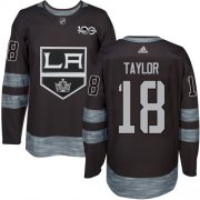 Wholesale Cheap Adidas Kings #18 Dave Taylor Black 1917-2017 100th Anniversary Stitched NHL Jersey