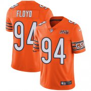 Wholesale Cheap Nike Bears #94 Leonard Floyd Orange Men's 100th Season Stitched NFL Limited Rush Jersey