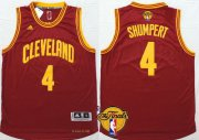 Wholesale Cheap Men's Cleveland Cavaliers #4 Iman Shumpert 2017 The NBA Finals Patch Red Jersey