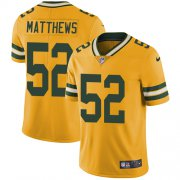 Wholesale Cheap Nike Packers #52 Clay Matthews Yellow Men's Stitched NFL Limited Rush Jersey