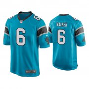 Wholesale Cheap Men's Carolina Panthers #6 P.J. Walker Blue Game Nike Jersey