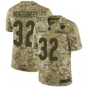 Wholesale Cheap Nike Bears #32 David Montgomery Camo Men's Stitched NFL Limited 2018 Salute To Service Jersey