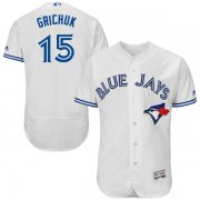 Wholesale Cheap Blue Jays #15 Randal Grichuk White Flexbase Authentic Collection Stitched MLB Jersey