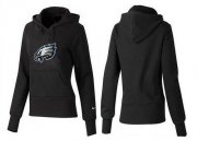 Wholesale Cheap Women's Philadelphia Eagles Logo Pullover Hoodie Black