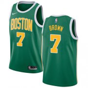 Wholesale Cheap Nike Celtics #7 Jaylen Brown Green NBA Swingman Earned Edition Jersey