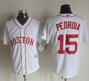 Wholesale Cheap Red sox #15 Dustin Pedroia White Alternate Home New Cool Base Stitched MLB Jersey