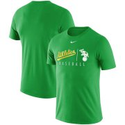 Wholesale Cheap Oakland Athletics Nike MLB Team Logo Practice T-Shirt Green