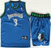 Wholesale Cheap Minnesota Timberwolves #3 Stephon Marbury Blue Swingman Jerseys Short Suits