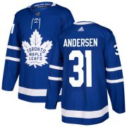 Wholesale Cheap Adidas Maple Leafs #31 Frederik Andersen Blue Home Authentic Stitched Youth NHL Jersey