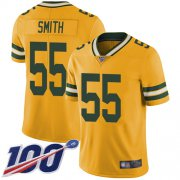 Wholesale Cheap Nike Packers #55 Za'Darius Smith Yellow Men's Stitched NFL Limited Rush 100th Season Jersey