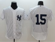 Wholesale Yankees #15 Thurman Munson White Strip Flexbase Authentic Collection Stitched Baseball Jersey