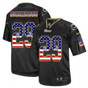 Wholesale Cheap Nike Rams #29 Eric Dickerson Black Men's Stitched NFL Elite USA Flag Fashion Jersey