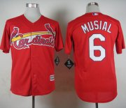 Wholesale Cheap Cardinals #6 Stan Musial Red Cool Base Stitched MLB Jersey