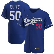Wholesale Cheap Los Angeles Dodgers #50 Mookie Betts Men's Nike Royal 2020 Alternate Official Authentic Player MLB Jersey