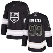 Wholesale Cheap Adidas Kings #99 Wayne Gretzky Black Home Authentic Drift Fashion Stitched NHL Jersey