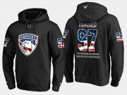 Wholesale Cheap Panthers #97 Esa Tikkanen NHL Banner Wave Usa Flag Black Hoodie