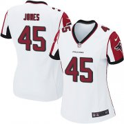 Wholesale Cheap Nike Falcons #45 Deion Jones White Women's Stitched NFL Elite Jersey