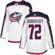 Wholesale Cheap Adidas Blue Jackets #72 Sergei Bobrovsky White Road Authentic Stitched Youth NHL Jersey