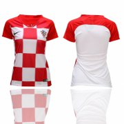 Wholesale Cheap Women's Croatia Blank Home Soccer Country Jersey