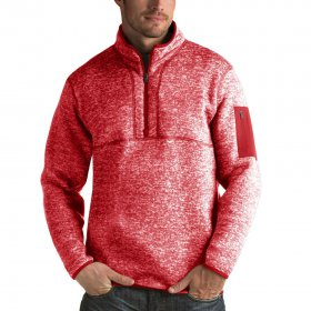 Wholesale Cheap Detroit Red Wings Antigua Fortune Quarter-Zip Pullover Jacket Red