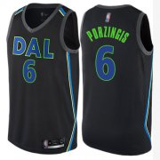 Wholesale Cheap Mavericks #6 Kristaps Porzingis Black Basketball Swingman City Edition Jersey