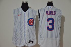Wholesale Cheap Men\'s Chicago Cubs #3 David Ross White 2020 Cool and Refreshing Sleeveless Fan Stitched Flex Nike Jersey