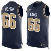 Wholesale Cheap Nike Rams #66 Austin Blythe Navy Blue Team Color Men's Stitched NFL Limited Tank Top Jersey
