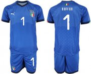 Wholesale Cheap Italy #1 Buffon Home Soccer Country Jersey