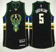 Wholesale Cheap Milwaukee Bucks #5 Michael Carter-Williams Revolution 30 Swingman 2015-16 Black Jersey