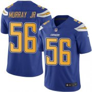 Wholesale Cheap Nike Chargers #56 Kenneth Murray Jr Electric Blue Youth Stitched NFL Limited Rush Jersey