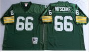 Wholesale Cheap Mitchell And Ness 1966 Packers #66 Ray Nitschke Green Throwback Stitched NFL Jersey