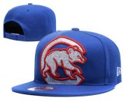 Wholesale Cheap MLB Chicago Cubs Snapback Ajustable Cap Hat YD 1