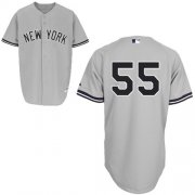 Wholesale Cheap Yankees #55 Russell Martin Grey Stitched MLB Jersey