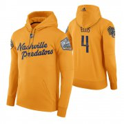 Wholesale Cheap Adidas Predators #4 Ryan Ellis Men's Yellow 2020 Winter Classic Retro NHL Hoodie