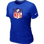 Wholesale Cheap Women's Nike NFL Logo NFL T-Shirt Blue