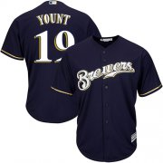 Wholesale Cheap Brewers #19 Robin Yount Navy blue Cool Base Stitched Youth MLB Jersey