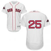 Wholesale Cheap Red Sox #25 Steve Pearce White Flexbase Authentic Collection 2018 World Series Champions Stitched MLB Jersey