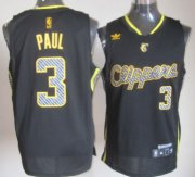 Wholesale Cheap Los Angeles Clippers #3 Chris Paul Black Electricity Fashion Jersey