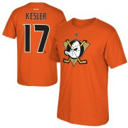 Wholesale Cheap Anaheim Ducks #17 Ryan Kesler Reebok Alternate Name & Number T-Shirt Orange