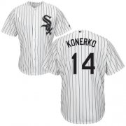 Wholesale Cheap White Sox #14 Paul Konerko White(Black Strip) Home Cool Base Stitched Youth MLB Jersey