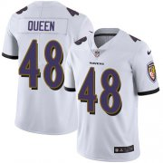 Wholesale Cheap Nike Ravens #48 Patrick Queen White Men's Stitched NFL Vapor Untouchable Limited Jersey